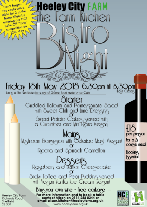 Heeley City Farm Kitchen cafe Bistro Night, 18th May 2018.png